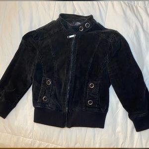 Jackets & Blazers - Corduroy 3/4 Sleeve Cropped Moto Jacket Medium #H9